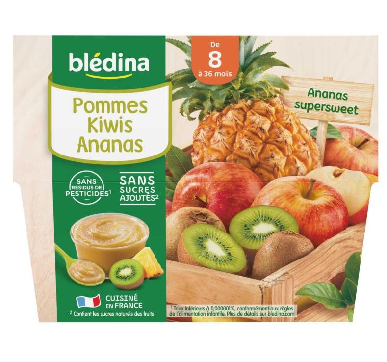 贝乐蒂 100% 苹果奇异果菠萝味宝宝水果果泥