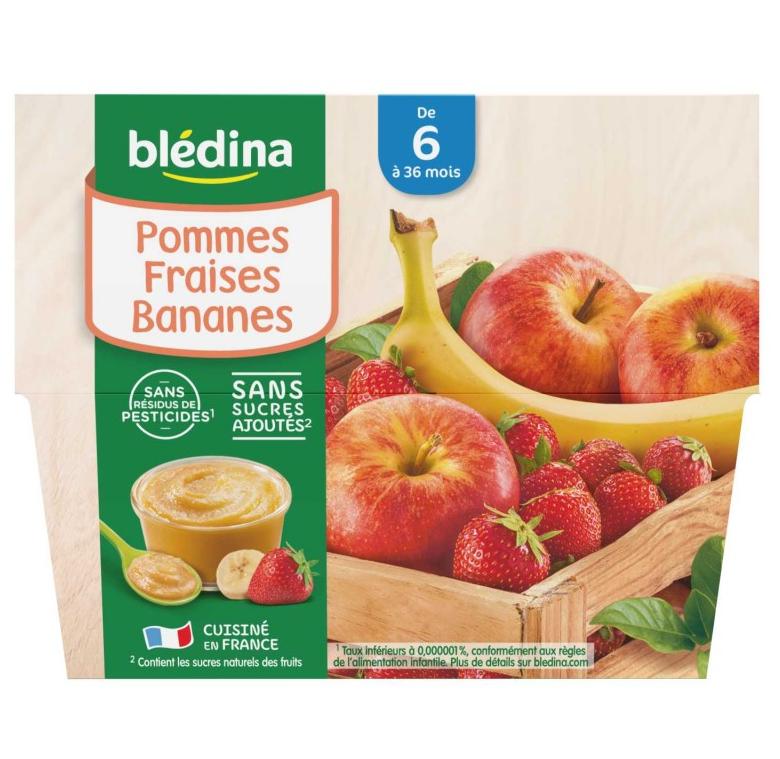 贝乐蒂 100% 苹果草莓香蕉味宝宝水果果泥