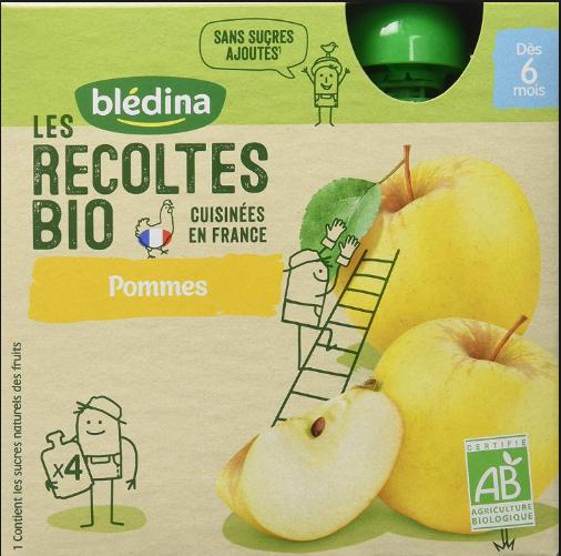 贝乐蒂 绿色有机纯天然苹果味宝贝果酱