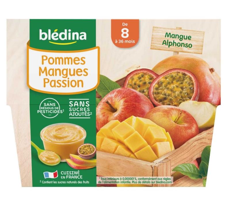 贝乐蒂 100% 苹果芒果热带水果味宝宝水果果泥