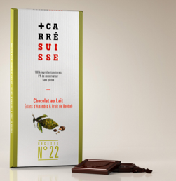 CARRE SUISSE 22号 碎塊杏仁波巴布樹果實牛奶巧克力 100g