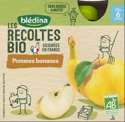 贝乐蒂 绿色有机纯天然苹果香蕉味宝贝果酱